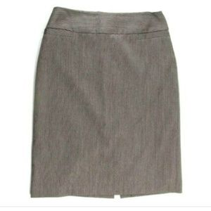 Talbots Womens 12 Brown Textured Wool Pencil Skirt